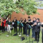 Gemeindefest - Der Christliche Posaunenchor sorgt für Musik