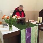 Sogar auf dem Altar wurde abgestimmt
