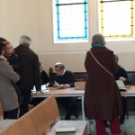 Ausgabe der Wahlzettel