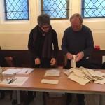 Öffnung der Wahlurne